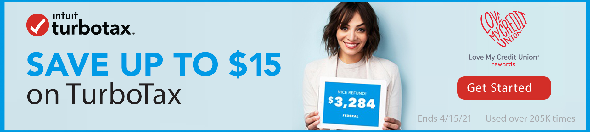 Members can save up to $15 on TurboTax!